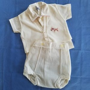 Sweet VTG Baby Boy SZ 12 Mo 3 piece outfit, Easter